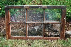 Vintage 6 Pane Wood Window Frame From Old Southern Home