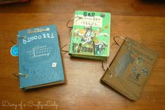 Diary of a Crafty Lady: Old Book Covers for {Cookbooks; Scrapbooks; Journals, Photo Albums...} plus *10 DIY Ideas*