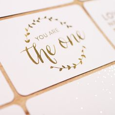 These specialty cards - designed to coordinate with the Southern Weddings Edition - contain a mix of gold foil, silver foil, and rose gold foil to add sparkle a