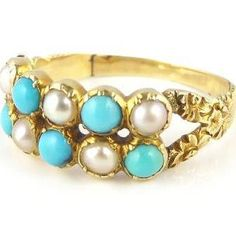 victorian turquoise and pearl ring - Google Search