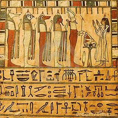 Ancient Egyptian gods and hieroglyphics by Jose I. Soto, via Dreamstime