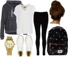Lazy day outfit for school