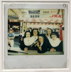 Polaroids taken by a fairgrounds shooting gallery in Europe, 1972-1990.Nuns with guns