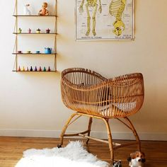 sixties wicker crib