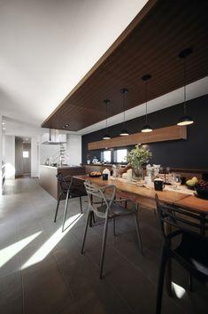 Kitchen Interior, Home Interior Design, Loft Design, House Design, Kitchen Dining, Kitchen Decor, Kitchen Ideas, Kitchen Sitting Areas, Muji Home