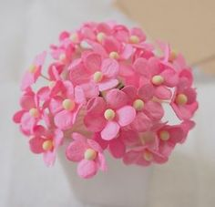 60pcs x Mini Poysian Mulberry Paper Flower for DIY crafts cards scrapbooking  | eBay