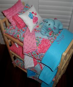 TRIPLE Doll Bunk Bed Separates with by Dollbeddingboutique on Etsy