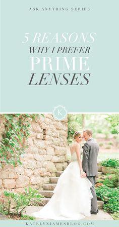 5 Reasons Why I Prefer Prime Lenses by Katelyn James Photography