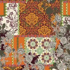 Patchwork by Victoria Krupp Seamless Repeat Royalty-Free Stock Pattern Online Collections, Trendy Colors, Repeating Patterns, Textile Design, Print Patterns, Folk, Royalty, Victoria, Colorful
