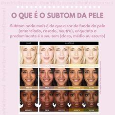 O QUE É TOM E SUBTOM DE PELE - Blog da Andrielly How To Use Makeup, How To Make Hair, Love Makeup, Makeup Tips, Beauty Makeup, Make Up, Rose Gold Color Palette, Classy Makeup, Korean Makeup