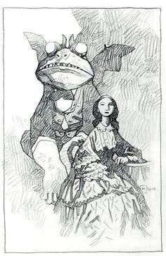 Mike Mignola, Emerald City Comic Con pencil sketch