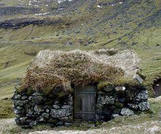 Scottish bothy or shepherd's house.