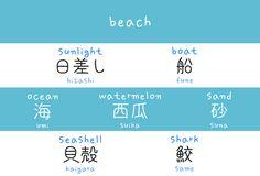 Beach japanese words arghlblargh!