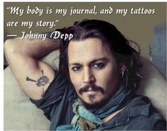 Johnny Depp Quote (johnny depp,quote,tattoo,body art)