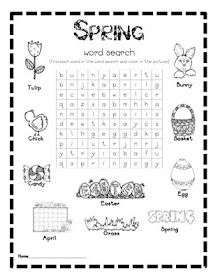 FREE spring word search--my kids LOVE word searches! And rabbit research for grade one Easter Activities, Spring Activities, Writing Activities, Classroom Activities, Owl Classroom, Spring Word Search, Spring Words, Spring School, Kindergarten Themes