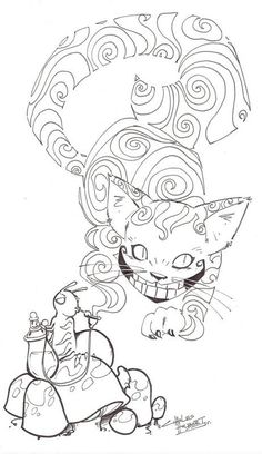 Trippy Alice In Wonderland Coloring Pages from Printable Coloring Pages of Alice in Wonderland. Coloring Alice in Wonderland is a fantastic picture for coloring with characters and stories from the fairy tale. It tells about the adventures of the. Cat Coloring Page, Adult Coloring Book Pages, Disney Coloring Pages, Animal Coloring Pages, Free Coloring Pages, Printable Coloring Pages, Coloring Books, Coloring Sheets, Chesire Cat