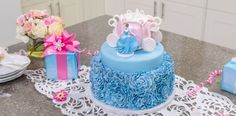 Create a Disney Princess Cinderella Cake masterpiece with this step-by-step tutorial featuring an exquisite gum paste Cinderella figurine cake topper.
