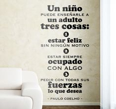 Vinilo decorativo tres cosas Coelho
