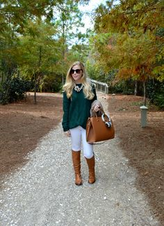 Chunky Knit Sweater & Riding Boots