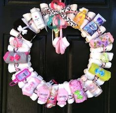 Instructions for baby shower diaper wreath. BeforeTheAfter
