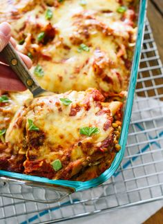 Lentil Baked Ziti  ~  this healthy vegetarian recipe includes lentils for protein, and is a delicious dinner that makes great leftovers  /  cookieandkate.com