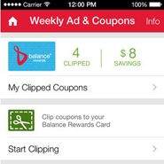 Walgreens' latest update to its iPhone application enables users to clip paperless coupons and add the savings to their Balance Rewards loyalty card as a way to bring added value for users while also driving in-store traffic.