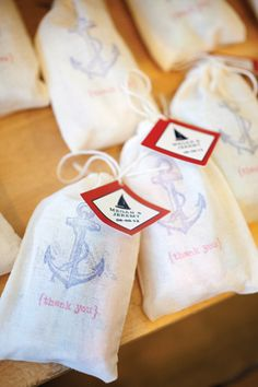 Nautical wedding freshwater taffy favors; Photo: Captured Photography by Jenny ... Wedding ideas for brides, grooms, parents & planners ... https://itunes.apple.com/us/app/the-gold-wedding-planner/id498112599?ls=1=8  ... The Gold Wedding Planner iPhone App.