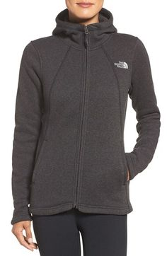 The North Face The North Face 'Crescent' Fleece Jacket available at #Nordstrom - Medium dark grey