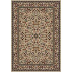 $170 Concord Global Trading Jewel Sarouk Ivory 7 ft. 10 in. x 9 ft. 10 in. Area Rug-41127 - The Home Depot
