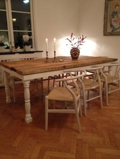 Blogg - Kundrecensioner Dining Table, Rustic, Furniture, Home Decor, Country Primitive, Decoration Home, Room Decor, Dinner Table, Retro