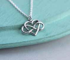 Heart Infinity Necklace Infinity Necklace by HandStampedbyJoanna, $25.00