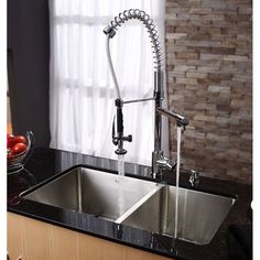 Kraus KHU103-33 Professional Kraus 33 Inch Undermount 60/40 Double Bowl 16 Gauge Stainless Steel Kitchen Sink Stainless Steel-eFaucets.com
