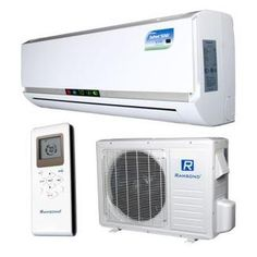 Ramsond BTU Ton) Ductless (Duct Free) Mini Split Air Conditioner & Heat Pump - at The Home Depot Split System Air Conditioner, Air Conditioning System, Rotary Compressor, Mini Split Ac, Sound Room, System Model, Heat Pump, Pumps, Basement Remodeling