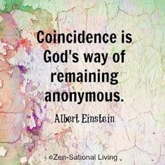 Celebrity Quotes: What is concidence according to Albert Einstein