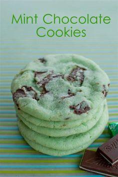 Mint choco cookies