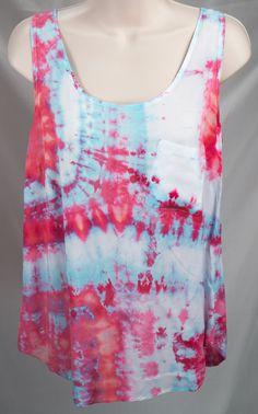 Women's Tank - Tie Dye - Ice Dye  (small 4-6) by ChromeLion on Etsy