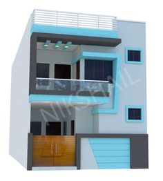 House plan with elevation option c by nikshail – Home decoration ideas and garde ideas 2bhk House Plan, Narrow House Plans, Model House Plan, House Layout Plans, Duplex House Plans, New House Plans, House Layouts, House Outer Design, Single Floor House Design
