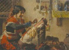 Encajera de Francisco Pradilla Ortiz. (1848 - Villanueva de Gállego, Zaragoza)