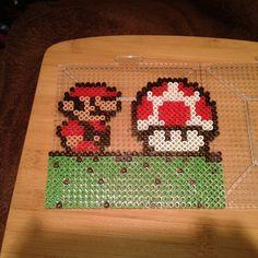 Mario mushroom perler beads by Eleka Peka