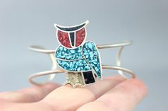 Native American Owl Cuff Sterling Silver by SouthwestVintage, $82.50