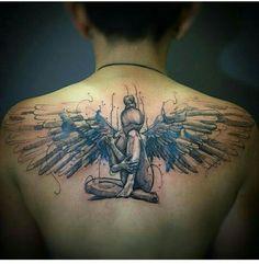 Tattoos on neck Mädchen Tattoo, Tattoo Son, Tattoo Life, Chest Tattoo, Piercing Tattoo, Body Art Tattoos, Sleeve Tattoos, Tatoos, Wing Tattoos