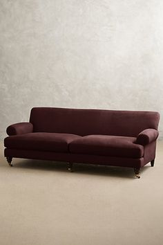 Linen Willoughby Sofa, Hickory #anthropologie