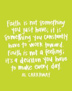 Faith God Quote