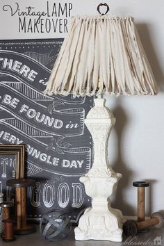 Shabby lamp shade makeover more old things new diy decor 16 diy lamp makeovers and ideas you can do yourself solutioingenieria Gallery