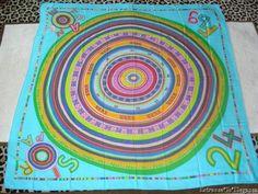Auth Hermes Turquoise/Multicolor #04 Tohu Bohu Cashmere GM Shawl 140cm Excellent #HERMEgraveS #ShawlWrap #
