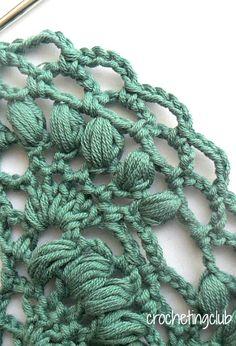 crochetingclub: Lion Brand's Elegant Shawl. Español