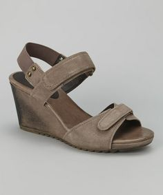 Another great find on #zulily! Taupe Alias Wedge Sandal by Geox #zulilyfinds