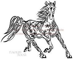 flower horse hmmm tattoos