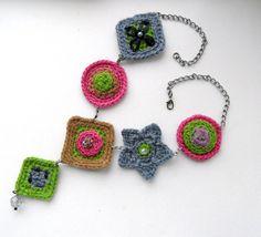 Uncinetto collana catena collana collana forma di CraftsbySigita