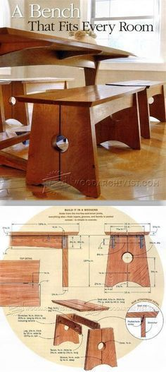 Wood Bench Plans - Furniture Plans and Projects | WoodArchivist.com